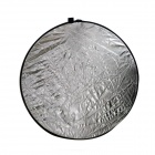 5-IN-1 Folding Round Shaped Dual Side Large Flash Reflector Board - Golden + Silver (80cm Diameter)