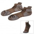 KAILAS KG802262 Outdoor Sports Perspiration Polyester Men's Socks - Deep Brown (Size L)