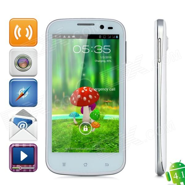 "Star B943 Android 4.1 Quad-Core Bar phone w/ 4.5"" Capacitive Screen, Wi-Fi, GPS and Dual-SIM - White"