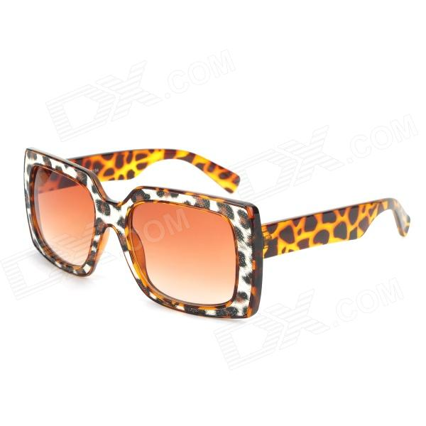 SENLAN 6134 6134 Retro Fashionable Leopard Pattern Frame UV400 Protection Sunglasses - Tan cy8150 fashion women s resin uv400 protection sunglasses leopard pattern frame