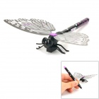 Creative Butterfly Style Gel Ink Pen w/ Magnetic Sticker - Purple + Black