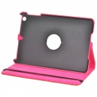 "Alligator Pattern 360 "" Rotation Suojaava PU Leather Case jalusta iPad Mini - Deep Pink"