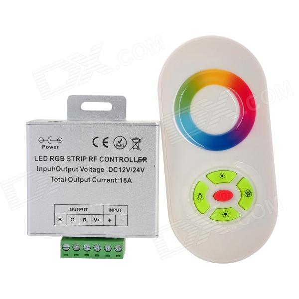 7042 3-CH RF Wireless Touch 5-Key Remote Controller for LED RGB Light Strip - White + Silver