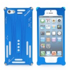 Frog Shape Protective Aluminum Alloy Case w/ Screen Film + Disassemble Tool for iPhone 5 - Blue