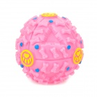 Novelty Pet Dog Cat Squeaker Food Leakage Ball Chewing Toy - Pink