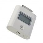 "1.3"" LCD 3-Color Backlight Intelligent Alcohol Tester Powered by iPhone 4 / 4S - White"