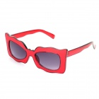 SENLAN M6179 Retro Fashionable UV400 Protection Sunglasses - Red