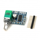 SZX1301 5V 2 x 3W Digital Small Amplifier Board - Blue + Green