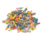 1:150 Scale Plastic Painted People Figures Model - Multicolor (100 PCS)
