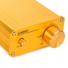 Aluminum 2-Channel Digital Audio Power Amplifier for Car / Home / Computer + More - Golden