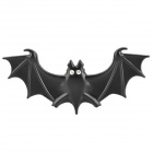 Bat Style DIY Alloy w/ Rhinestones Car Decoration Sticker - Black