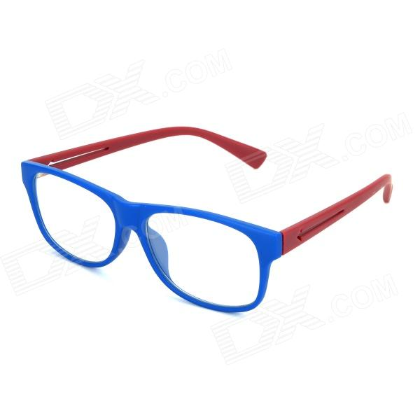 SENLAN M6269 Anti-Radiation Plain Glass Spectacles - Matte Blue + Red велосипедные перчатки mai senlan m81013
