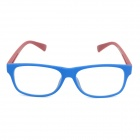SENLAN M6269 Anti-Radiation Plain Glass Spectacles - Matte Blue + Red