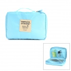 Multi-function Travel Nylon Storage Handbag - Sky Blue