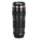 XH-3 1:1 Canon Camera EF 70-200mm Lens Shaped Travel Thermos Cup - Black (400ml)