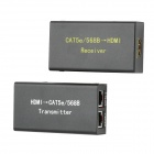Cat5e / 6 Networking Draht 1080P HDMI Video Audio-Signal-Verstärker Kit - Black (EU Plug)