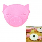 Cute Pig Style Rubber Heat Resistant Kitchen Cooking Glove - Pink