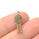 1:100 Scale Plastic Painted People Figures Model - Multicolor (100 PCS)