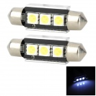 LY279 39mm Festoon 1W 36lm 6000K 3-5050 SMD LED White Light Reading Lamp (2 PCS / 12V)