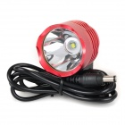 LZZ-T6 600lm 3-Mode White Bicycle Bike Light / Headlamp w/ Cree XM-L T6 - Red (4 x 18650)