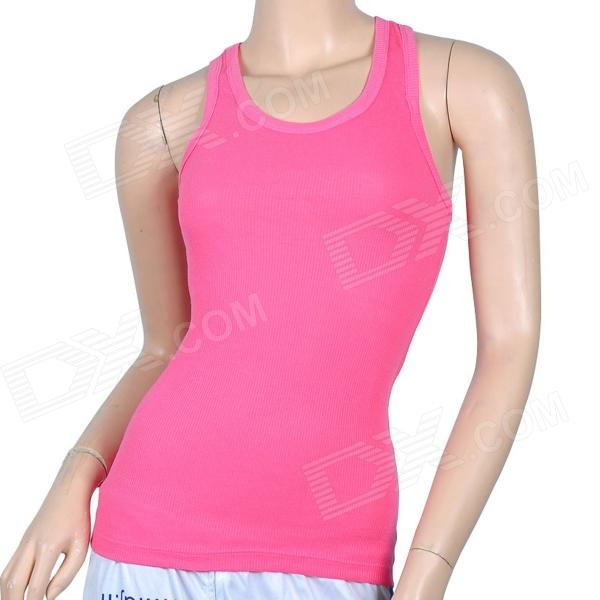 C27-3359 Cool Summer Cotton Vest for Women - Pink