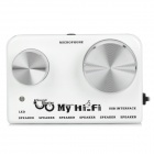 A886 My Hi-Fi 2-CH Computer USB Audio Sound Blaster Speaker Amplifier - White + Black + Silver