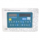 "WL030 Credit Card Shape 1.5"" LED Screen Solar Powered 8-Digit Pocket Calculator - Blue + White"