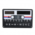 "WL031 Credit Card Shape 1.5"" LED Screen Solar Powered 8-Digit Pocket Calculator - Black + White"