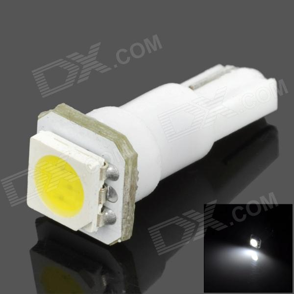 T5 0.18W 14lm 1-SMD 5050 LED White Car Instrument Lamp - White (DC 12V)