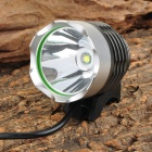 LZZ-T6 600lm 3-Mode White Bicycle Bike Light Headlamp w/ Cree XM-L T6 - Grey + Silver (4 x 18650)