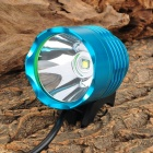 LZZ-T6 Cree XM-L T6 600lm 3-Mode White Bicycle Bike Light / Headlamp - Blue (4 x 18650)