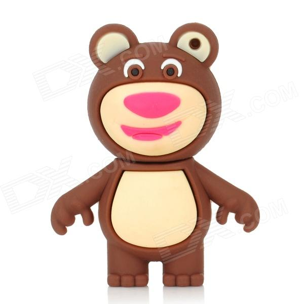 Cute Bear Cartoon Style USB 2.0 Flash Drive - Brown + Beige (4GB) cartoon koala style usb 2 0 flash drive brown white 4 gb