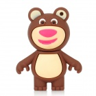 Cute Bear Cartoon Style USB 2.0 Flash Drive - Brown + Beige (4GB)