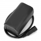 RUSTU Waterproof 2500mAh 4 x 18650 Battery Pack for Bicycle Headlamp - Black