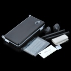 GTcoupe 8-in-1 Stylus Pen + Thumb Ring + Screen Guard Crystal Case Kit for Nintendo DSi - Black