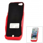 3000mAh Rechargeable External Battery Back Case for iPhone 5 - Red