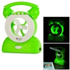 QY QY-8365 Multifunction Desktop Mini Fan + 20-LED Lamp - Green + White
