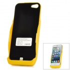 3000mAh Rechargeable External Battery Back Case for iPhone 5 - Yellow