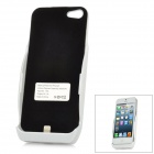 3000mAh Rechargeable External Battery Back Case for iPhone 5 - White