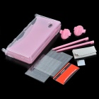GTcoupe 8-in-1 Stylus Pen + Thumb Ring + Screen Guard Crystal Case Kit for Nintendo DSi - Pink