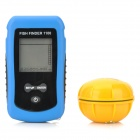 "JL-68 2.1""' LCD RT Wireless Remote Controlled Sonar Sensor Fish Finder - Black + Blue (4 x AAA)"
