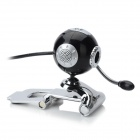 "RAJOO N6 Desktop Sphere 1/3"" CMOS 5.0MP 1600 x 1200 Webcam w/ Microphone - Black + Silver"