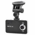 "LSON K6000 2.7"" TFT LCD 1080p 5.0MP 120' Wide Angle Car DVR w/ HDMI / TF / 2-IR LED - Black + Silver"