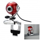 "RAJOO N6 Desktop Sphere 1/3"" CMOS 5.0MP 1600 x 1200 Webcam w/ Microphone - Red + Silver"