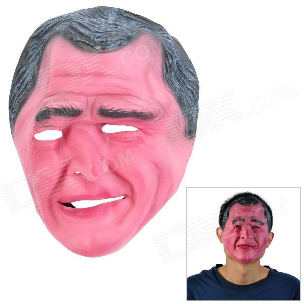 George W. Bush Style Emulsion Makeup Face Mask - Black + Pink