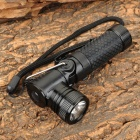NEW-898 Cree XR-E Q5 260lm 3-Mode Neutral White Light Flashlight - Black (1 x AA / 14500)