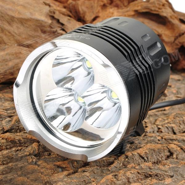 SKY RAY S6 4-Mode 2200lm White Light Bicycle Bike Lamp w/ 3 x Cree XM-L T6 - Black (4 x 18650) 600lm 3 mode white bicycle headlamp w cree xm l t6 black silver 4 x 18650
