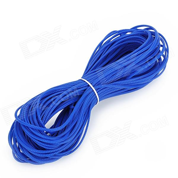 3mm PET Expandable Braided Sleeving - Blue (31M) diy protective 6mm pet braided cable expandable mesh sleeve red 15m