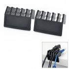 Cord Cable Drop Clips Ties Divider Organizer - Black