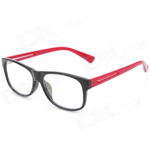 SENLAN M6269 Stylish Anti-Radiation Resin Lens Glasses - Black + Red reedoon f207 radiation blue ray protection tr90 frame resin lens gaming glasses black blue